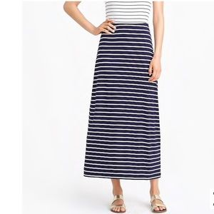 J. Crew Black & White Striped Maxi Skirt